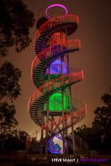 DNA Tower Light Painting (scallo) Tags: stevescallyphotography lightpainting landscape canon longexposure night kingspark ledorb westernaustralia
