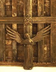 Lutenist angel (badger_beard) Tags: st saint peter paul alconbury cambridgeshire cambs church anglican huntingdonshire angel ange ängel angelo lute carved wood