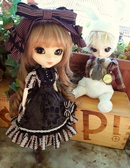 Odette & Clock - Alice series (Lunalila1) Tags: doll groove junplaning alice series handmade outfit costura pullip nina odette lauzier dal another clock rabbit