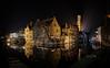 In Bruges (fruizh) Tags: agua nocturna reflejos bélgica ríodijver puente 2016 belfort brujas panorámica fruizh