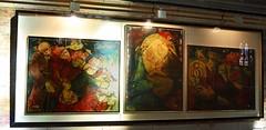 """Le Triptyque """" Nativité de la tendresse"""" de René Ducourant (florence.V) Tags: france hautsdefrance pasdecalais 62 béthune église artois églisesaintvaast tableau triptyque nativité renéducourant"""