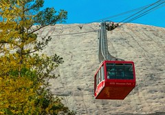 Hold On .... (~ Cindy~) Tags: stonemountain ga cablecars april2015