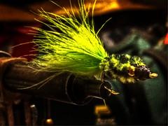 Jig (emj1300) Tags: fly flyfishing spirit spiritual feather matthewjeffres meditation bead hook craft art jig yellow green black