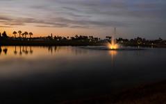 Magical ... (Hazem Hafez) Tags: lagoon lake water fountain sunset light egypt view