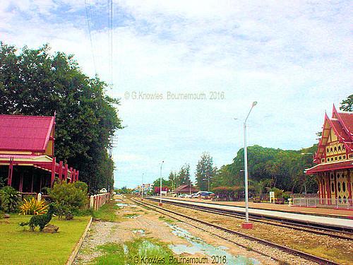 Hua Hin Railway Station in 2010, Hua Hin, Prachuap Khiri Khan Province, Thailand.6