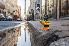 Batman is ready for a dive in Paris (Ballou34) Tags: 2017 7dmark2 7dmarkii 7d2 7dii afol ballou34 canon canon7dmarkii canon7dii eos eos7dmarkii eos7d2 eos7dii flickr lego legographer legography minifigures photography stuckinplastic toy toyphotography toys paris îledefrance france fr batman dc comics dccomics buoy street dive leisure swimming pool duck