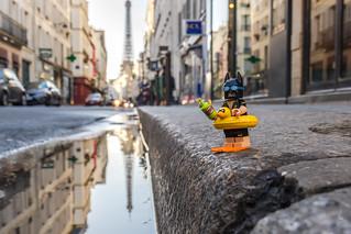 Batman is ready for a dive in Paris