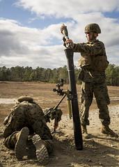 Marines 81mm Mortar - January 2017 (U.S. Army Watervliet Arsenal) Tags: 81mmmortars 81mmmortors camplejeune combatinstructor cplmanuelaserrano lejeune livefire marines mccsss soie trngcmd usmc usmctcom northcarolina unitedstates us watervlietarsenal armymaterielcommand armyg4 armyindustrialbase arsenal