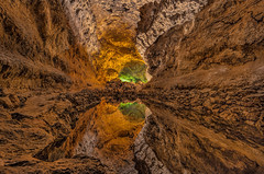 Cueva de los Verdes (marypink) Tags: lanzarote canaryislands canarie cuevadelosverdes lava grotta tunnel longexposure30sec water nikond800 nikkor1635mmf40