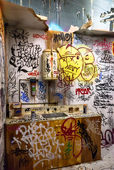 Work Place Blues (Jocey K) Tags: newzealand southisland christchurch ymca mural streetart art artwork building spectrumstreetartfestival sink zip