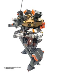 "Infantry Assault Division ""Roach"" Desert Camo R99 MkV Updated design_Day 17 (Benjamin Cheh) Tags: mecha afol lego wip"