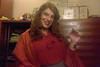 Sandra smoking in orange blouse (Sandra M. Lopes) Tags: crossdress crossdresser crossdressing transgender smoking cigarette holder