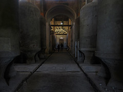 bodega cooperativa de felanitx (maximorgana) Tags: felanitx cellar attheendof corridor people abandoned derelict decayed