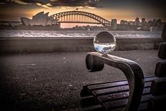 Sit. Watch the world pass by (Rakuli) Tags: ifttt 500px sydney harbour twilight sunset water bridge city rocks clouds dusk golden globe glass ball lensing