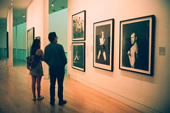 (oh it's amanda) Tags: ricohff1 london londonengland nationalportraitgallery museum 35mm xpro crossprocessed fujisensia400 expiredfilm expirationdateunknown peopleinmuseums