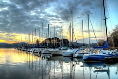 Morning Sail (gatorinsc) Tags: guntersville lake sail boat alabama marina morning sunrise