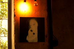 ...the hug deepens when you are loved... (Teteel) Tags: painting eleni tomadaki art exhibition walls light xoxtoncafebar elenitomadaki athens greece