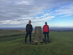 4 of 52 trig points (Ron Layters) Tags: 2017 ronlayters selfportrait 52trigpoints spondshill trigpoint winter sundaywalk dad manchester father grass green frozen clouds pillar tp6103 fbs2755 whaleybridge derbyshire england unitedkingdom 52weeks 52 phonecamera iphone apple appleiphone6 selftimer tripod 10secondtimer weekfour week4 4