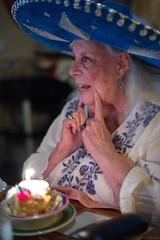Mom Celebrating her 90th Birthday - Nikon D750 - AF-S Nikkor 50mm 1:1.4 G (divewizard) Tags: nikond750 nikon d750 dslr fx afsnikkor50mm114g afs nikkor 50mm f14 g manhattanbeach losangeles losangelescounty california panchos panchosrestaurant panchosmexicanrestaurant mexicanrestaurant mother grandmother 90 sombrero hat candle happy desert bluesombrero 90yearold 90yearsold woman mujer امرأة frau אישה mulher 女 kvinne γυναίκα femme portrait 50mmf14g retrato wideopen bokeh dof 女人 kvinde sombreroazul azul blue bluehat ninty noventa people