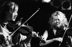 Mairi Rankin and Natalie MacMaster – Festival Club – October 2003 (photo: Brian Wunder)