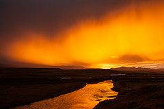 Tonight in Skagafjordur (*Jonina*) Tags: sunset reflection river iceland 500views ísland 1000views skagafjörður speglun skagafjordur sólsetur 50faves 25faves jónínaguðrúnóskarsdóttir