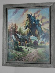 Godzilla vs Kincade - Ron Lemen (Sarah B in SD) Tags: art nerd geek godzilla myhouse sdcc buyart ronlemen sdcc2015 godzillavskincade