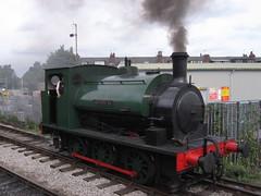 Brookes No 1 25082008b (Rossendalian2013) Tags: station train leeds railway preserved steamlocomotive moorlane saddletank 2387 middletonrailway hunsletenginecompany brookesno1