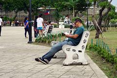 Reading at Plaza Independencia (Curufinwe - David B.) Tags: street plaza city man square asian reading town asia southeastasia place philippines read cebu cebucity visayas filipinas pilipinas independencia pinas philippine plazaindependencia teampilipinas
