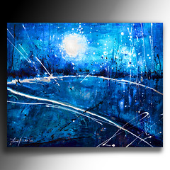 blue-hour- (annabulka) Tags: greatbritain blue light england inspiration abstract color colour art texture love nature beautiful modern night contrast dark painting landscape photography photo amazing fantastic paint flickr shot expression knife experiment progress wallart best canvas wanted abstraction bluehour colourful etsy capture textured beautifull colourfull impasto expresion darkstyler mywinners anawesomeshot colorphotoaward impast colourartaward colorfullaward heavytextured annabulka annamarijabulka canvasetsyartart paintingcolourcolourfulltexturedmodern