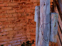 Bent wire (Nick Vidal-Hall) Tags: wood decay worn brisk weathering