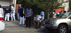 Repast - West Oakland (vision63) Tags: california black home oakland bay african young going east funeral american area murder norcal northern homicide repast imag3763