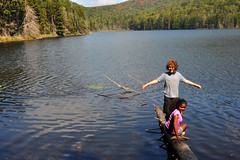 lake (greenelent) Tags: blue people mountain lake ny water kids children landscape adirondacks photoaday 365