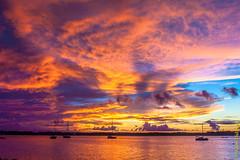 Un coucher de soleil flamboyant sur le Maroni (alain_did) Tags: voyage sunset sea sun soleil évasion fleuve créole guyane maroni amériquedusud pirogues beautyinnature tropiques saintlaurentdumaroni