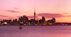 good evening auckland #1 (mugley) Tags: city longexposure travel pink sunset newzealand sky urban water skyline architecture night clouds digital buildings lights evening boat iso200 cityscape skyscrapers purple zoom towers kitlens olympus cranes auckland nz northisland skytower cropped suburbs cbd f11 omd devonport urbanlandscape 13s aucklandharbour cloudage 1442 42mm em5 zoomedin stoppeddown mirrorless micro43 microfourthirds mzuiko1442mmf3556iir olympusem5 waitematāharbour