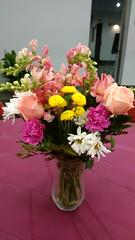 Flower Arrangements, Repast #3 (artistmac) Tags: city flowers roses urban plants chicago illinois wake flowerarrangements il funeral tribute carnations generalassembly staterepresentative repast esthergolar