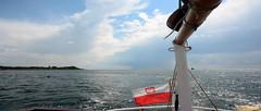 homesickness (waldemarjan) Tags: blue sea flag nostalgia homesickness wspomnienie