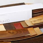 津山町産木製長手皿7枚組の写真