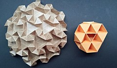 Snow Crystal and Tessellation triangular-and-3d (modular.dodecahedron) Tags: origamitessellation toshikazukawasaki trianglegrid fredrikowesen