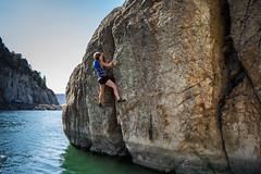 Melissa Crack 2 (kinkbmxco) Tags: climbing bankslake deepwatersoloing