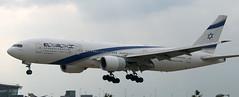 Boeing 777-258 4X-ECC (707-348C) Tags: london heathrow ely passenger boeing airliner lhr elal jetliner boeing777 egll b772 4xecc b77l