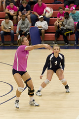 DAVE2487 (David J. Thomas) Tags: sports athletics women volleyball arkansas pioneers awareness breastcancer scots batesville pinkout lyoncollege crowleysridgecollege