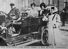 Emmeline Pankhurst, Annie Kenny and Emmeline Pethick Lawrence, c.1912.