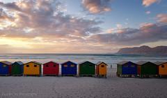 Muizenberg Beach Huts Sunrise Walker (Panorama Paul) Tags: sunrise southafrica beachhuts westerncape nikkorlenses muizenbergbeach nikfilters nikond800 wwwpaulbruinscoza paulbruinsphotography