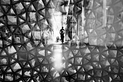 mirrors (fotobes) Tags: blackandwhite man london monochrome silhouette mirror blackwhite lca doubleexposure grain mirrors tunnel multipleexposure analogue ratseyeview lomographyladygreybw400 lomographyladygrey