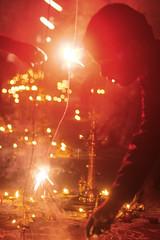 Karthikai Deepam (luckyhues) Tags: abstract festival fireworks celebration crackers oillamps deepam karthikai agalvilakku