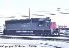 Espee 8847 at ICG Markham, 1980-05-27 (redheadedrobbie1) Tags: railroad locomotive railfan southernpacific espee sd45 emd electromotivediesel