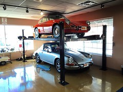 Got the 4 post lift built and installed in our showroom with the guys, #vordermanmw #porsche #912 #targa #912targa #vordermanmotorwerks (vordermanmotorwerks) Tags: auto car truck autorepair service van suv fortwayne carrepair vorderman