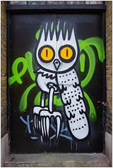 Graffiti (Dscreet), East London, England. (Joseph O'Malley64) Tags: door uk greatbritain england streetart london graffiti mural paint doors bc britain entrance spray british cans aerosol eastend eastlondon wallmural muralist dscreet burningcandy burningcandycrew