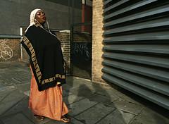 Sing (Becky Frances) Tags: city uk england urban woman colour london candid streetphotography streetportrait olympus photograph shoreditch socialdocumentary eastend eastlondon shoreditchhighstreet 2015 pollyblue lensblr beckyfrances