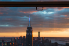 world famous view (jonron239) Tags: nyc sunset newyork empirestatebuilding artdeco rockefellercentre topoftherock
